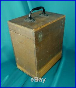 1885 4x5 Scovill View Camera Waterbury Lens Original Wood Case