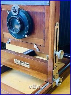 1920s Gundlach Korona View Camera 5x7 EURYPLAN-ANASTIGMAT Series 1 F6.8 7 Lens