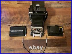 4x5 GRAFLEX SPEED GRAPHIC CAMERA With Rapax lens
