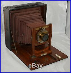 8x10 Rochester Optical Co. Tele-Photo Poco D with Red Bellows & Brass Lens
