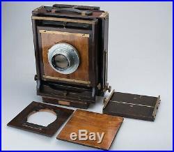 Agfa Ansco 8x10 Field Camera Kodak Eastman Ektar 14 f/6.3 Lens + Extras Nice