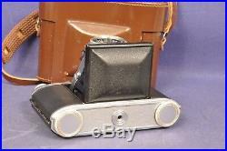 Agfa Super Isolette Klappkamera mit Tasche / Solinar 3.5/75mm Objektiv Lens