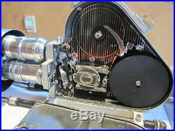 Amazing Pathe France 16mm Movie Camera, 3 Lenses! Motor, 400ft Mags, Matte Box