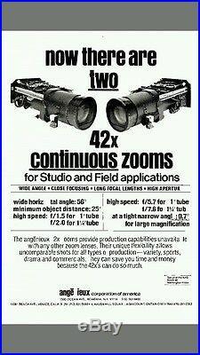 Angenieux 42x zoom tele television broadcast camera lens lense vintage 12.5-525