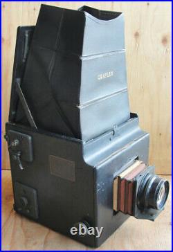 Antique 5 x 7 Graflex Camera with 5 x 8 Bausch & Lomb Zeiss Tessar Series C Lens