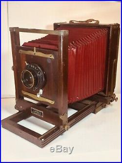 Antique 8x10 Wood Eastman Kodak No. 2-D View Camera WithGundlach Perigraphic Lens