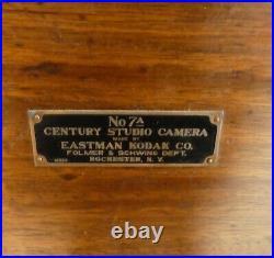 Antique Folmer & Schwing Kodak 7A STUDIO CAMERA +1A STAND. Bausch+Lomb Lens 1917