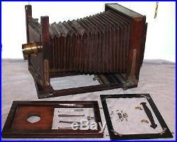 Antique Gundlach Korona 5x7 Camera Bausch & Lomb 5x8 Plastigmat Lens