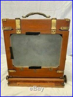 Antique Wooden 5 X 7 Field Camera (used for wet plate) E. Suter Aplanat # 2 Lens