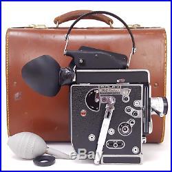 BOLEX H16 REX-5 16MM Film Camera + 25mm Lens + Change Bag + Case, Clean Working