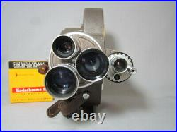 Bell & Howell Filmo 70dr 16mm Movie Camera Angenieux Taylor Hobson C-mount Lens