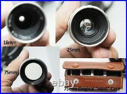Bolex H16 16mm Movie Camera Kern Paillard 16/25/75mm Lens Original Box