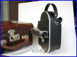 Bolex H16 Deluxe non-reflex 16mm Movie Camera with 25mm f1.4 Switar Lens, Case