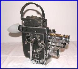 Bolex H16 REX 5 Reflex 16mm, film-tested, nice shape, with 3 lenses, Rex-O-Fader