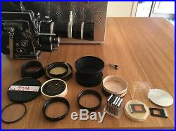 Bolex H16 Reflex RX5 + aluminium case, Lens Kern Vario-Switar 18-86mm RX red OE