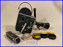 Bolex H8 Movie Camera with Som Berthiot 8-40mm f1.9 Zoom lens and Viewfinder