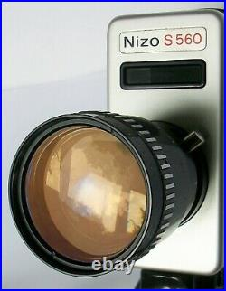 Braun Nizo 560 Super 8 Camera + close-up lens- all serviced, tested and working