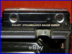 CROWN GRAPHIC 4 X 5 VIEW CAMERA f 4.7 127mm Kodak Ektar Lens Kalart Range Finder