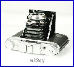 Camera Folding 6x6 RF Agfa Super Isolette lens Solinar 3.5/75mm Casse Mint