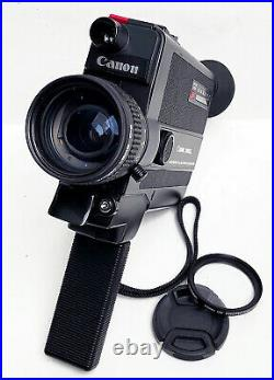Canon 310xl Super 8 Movie Camera f/1.0 lens Working. Film Tested