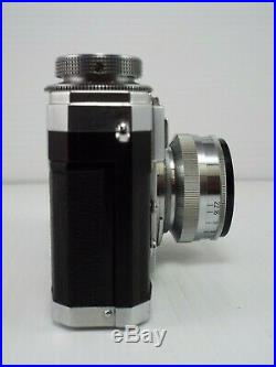 Contax Ragefinder Camera by Zeiss Ikon with 50mm Sonnar Lens and Case