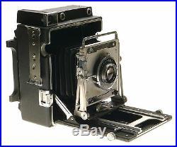 Crown Graphic 4x5 Press Film Camera Graflex Optar Lens f/4.7 135mm Excellent