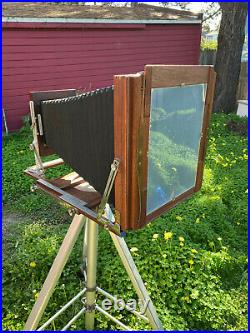 Customized 11x14 Folding Camera / 16 Kodak Portrait Lens + Wet Plate Holder