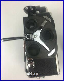 ++ Excellent Paillard Bolex H16 16MM Swiss Movie Camera with 75mm & 16mm Lenses