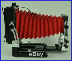 Folding camera 4x5 Large format + lens + 2 film holders Analog photography brass