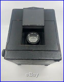 Folmer & Swing Press Graflex 5x7 large format SLR with B&L 1c lens & rare Bag Mag