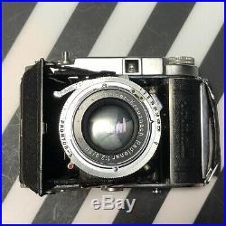 Franka Solida III Folding 120 Film Camera 80mm f2.9 Schneider Kreuznach Lens