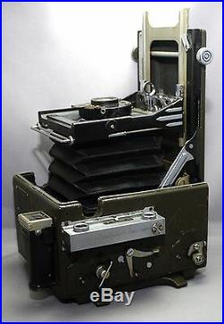 GRAFLEX Speed Graphic VINTAGE Bellows Camera SINGLO Special APLANAT Lens USA