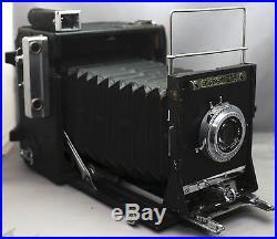 GRAFLEX Speed Graphic VINTAGE Camera POLAROID 110A Rodenstock f/4.7 127mm Lens