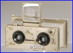 Gallus De Luxe stereo 6x13cm French plate camera Hermagis Magir brass lenses
