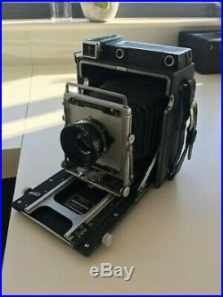 Graflex Crown Graphic 4x5 with Lens and Negative Carriers