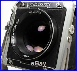 Graflex Speed Graphic 4X5 Camera with 150mm F2.8 Lens+Holders(Xenotar alternative)
