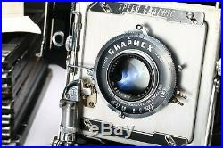 Graflex Speed Graphic 4x5 Field Camera + Ektar 127mm Lens, Case, Extras