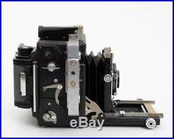 Graflex Speed Graphic Camera w. Zeiss Tessar 105mm f/4.5 Lens & RH/10 Film Back
