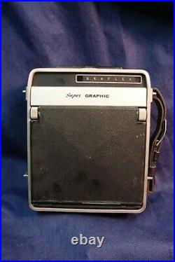 Graflex Super Graphic 4 x 5 Format Camera with Graflex Optar 135mm f/4.7 Lens