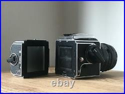 Hasselblad 503CX Zeiss 80mm f/2.8 CF Planar T Lens WLF A12 120 Film Back