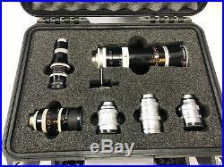 Job lot of C mount lenses for Bolex. Switar, Yvar, Angenieux, Kern-Paillard H16