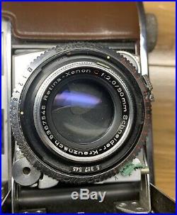 KODAK RETINA IIIC Big C 35mm FILM CAMERA withXENON C 50mm F2.0 LENS Schneider III