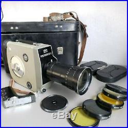 KRASNOGORSK 2 Russian Movie camera 16mm 1972 USSR with lens Meteor 5-1 KMZ