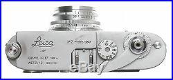 LEICA M2 RANGEFINDER 35mm FILM CAMERA SUMMARON 13.5/3.5cm CHROME LENS CAP CASE