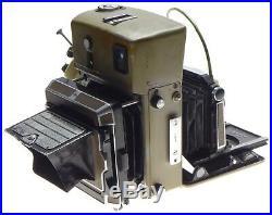 LINHOF Technika 70 Press vintage 6x9 camera 4 schneider lenses 3 roll backs used
