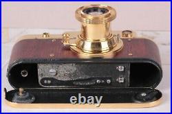 Leica D. R. P. Vintage Camera rangefinder Film Lens Leitz Elmar 50mm Gold
