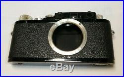 Leica II D Black with Leitz Elmar 50mm f3.5 Lens