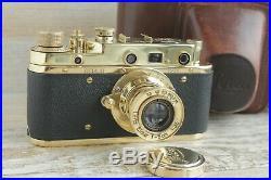 Leica II D D. R. P. Camera lens Leitz Elmar Exclusive (Fed Zorki copy) stock