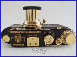 Leica-II(D) Wehrmacht WWII Vintage Russian Black Camera + Lens Leitz Elmar EXC