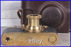 Leica. Kriegsmarine Camera lens Leitz Elmar Luxury Vintage (Zorki copi)